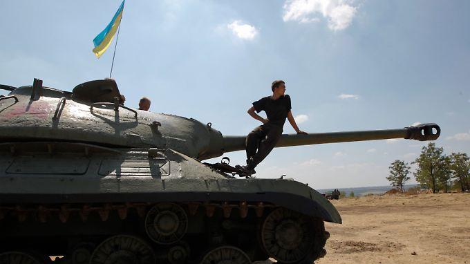 """In Donezk droht nach Angaben der Separatisten ein """"neues Stalingrad""""."""