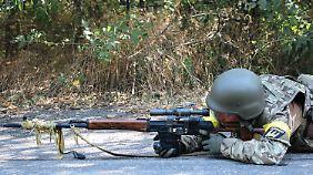 Ein ukrainischer Scharfschütze.