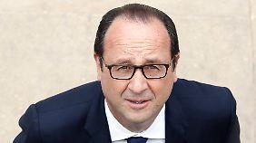 Gedrückte Feierlaune: Hollande begeht 60. Geburtstag