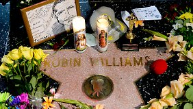 "Trauer um Robin Williams auch auf dem ""Walk of Fame"" in Hollywood."