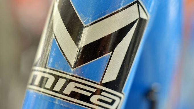 Das Logo der Fahrradmarke Mifa.