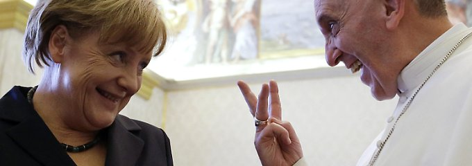 Merkel und Franziskus im Jahr 2013.