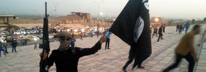 IS-Kämpfer in Mossul.