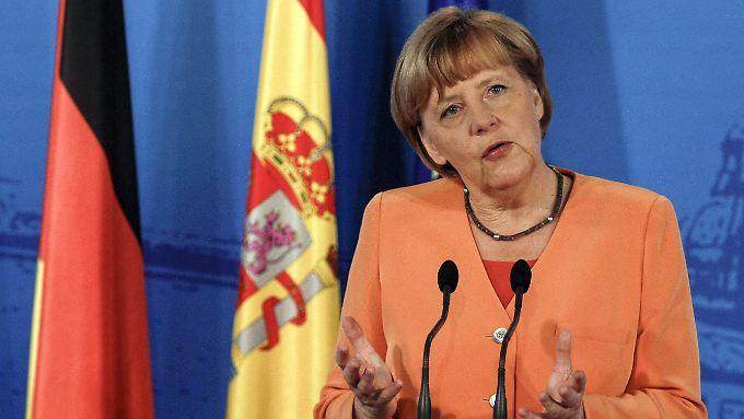 Angela Merkel sieht Deutschland auf dem richtigen Weg.