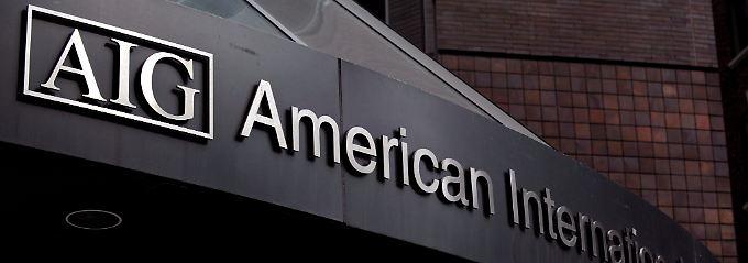 Die US-Regierung bewahrte AIG 2008 mit 182 Milliarden Dollar vor dem Zusammenbruch.
