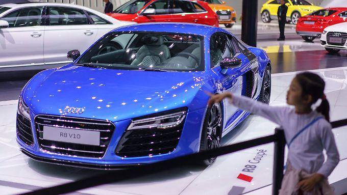 Auf der Messe Auto China in Peking zeigt der deutsche Hersteller Audi, was er hat. Der Absatz in China läuft blendend.