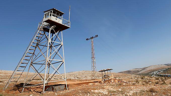 Ein verlassener türkischer Militärposten in der Provinz Hatay im Jahr 2012.