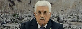 """""""Wir warten nicht noch 20 Jahre"""": Abbas will klare Grenzen zu Israel"""