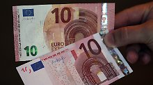 Der neue Zehner mit smaragdgrüner Wertangabe: Ende August stellte die Bundesbank den neuen Geldschein vor.