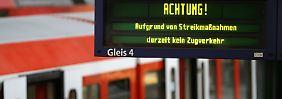 Auswirkungen für Pendler unklar: Bahn kritisiert Streik-Informationen