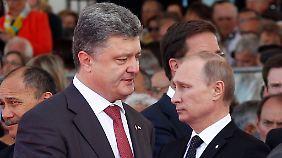 Gespräche zwischen Petro Poroschenko und Wladimir Putin sind derzeit rar.