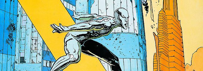 Superhelden und Architektur: Moebius' Stil macht den Comic zu einem Augenschmaus.