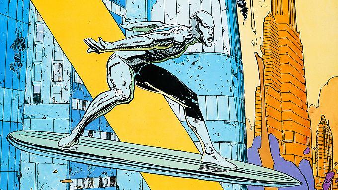 """""""Parabel"""" mit dem Silver Surfer: Moebius' Stil macht den Comic zu einem Augenschmaus."""