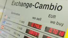 Auf Talfahrt: Der Euro wird immer billiger