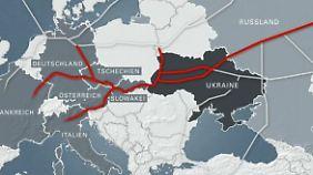 Retourkutsche für neue Sanktionen?: Moskau drosselt Gaslieferung nach Europa