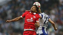 """""""Das gehört sich nicht in dieser Situation."""" (Der von Hertha an Mainz ausgeliehene Sami Allagui begründet, warum er nach seinem vorentscheidenden 2:0 auf den Torjubel verzichtet hatte)"""