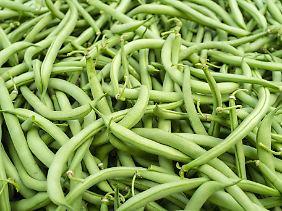 Grüne Bohnen sind beliebt.