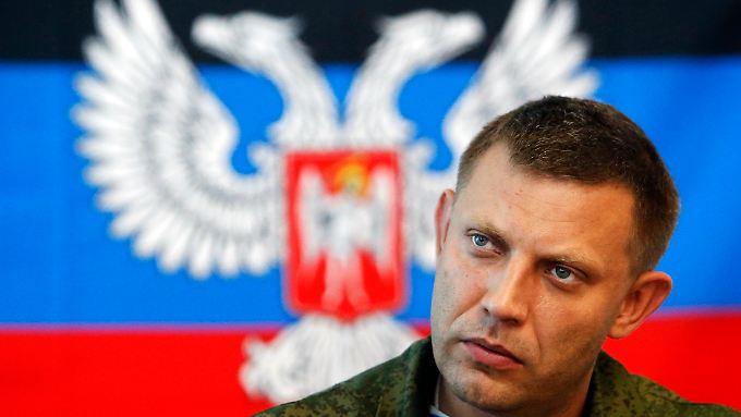 Auch Separatistenführer Alexander Sachartschenko nahm an den Verhandlungen der Kontaktgruppe in Minsk teil.