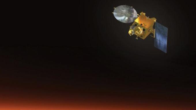 """Indien gelingt mit """"Mangalyaan"""" als erstem asiatischen Land eine Marsmission."""