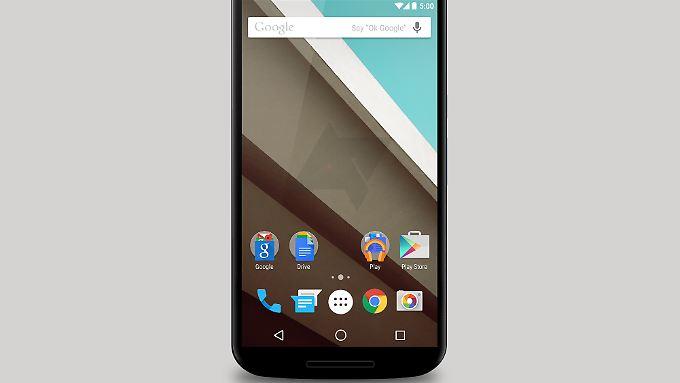 So soll das Nexus 6 von vorne aussehen.