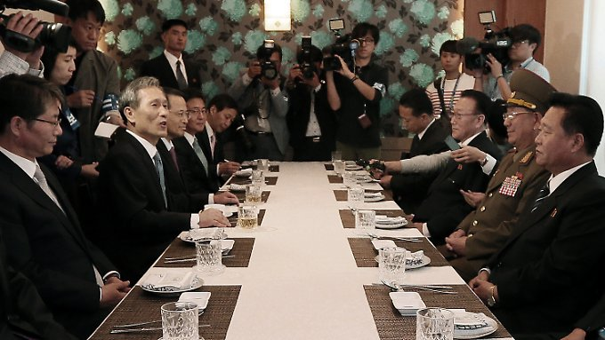 Die Südkoreaner wollen erst einen Tag vor dem Eintreffen der Nordkoreaner von dem Besuch erfahren haben.