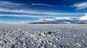 Auf dem Salar de Uyuni ruhen in Bolivien viele Hoffnungen.