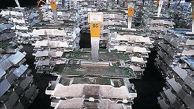 Aluminiumlager in einer Fabrik des Produzenten Alcoa in Brasilien.