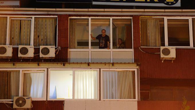 Das Hotel in Skopje darf niemand verlassen.