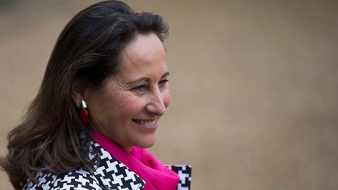 Umweltministerin Royale schwärmt für erneuerbare Energien.