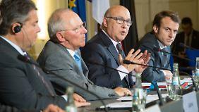 Die deutsche und französischen Finanz- und Wirtschaftsminister trafen sich in Berlin zu Gesprächen.