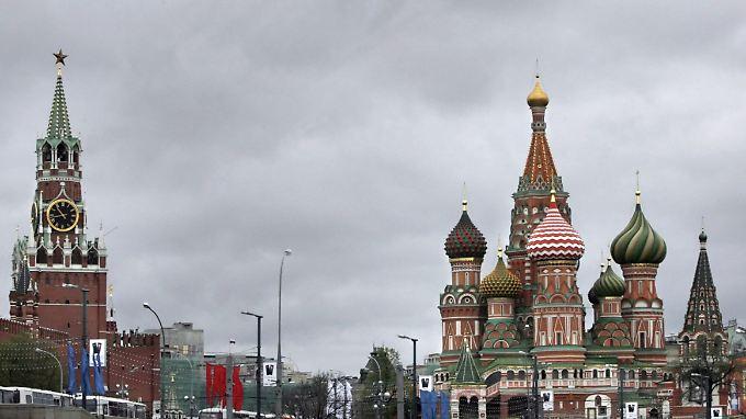 Blick auf den Roten Platz in Moskau.