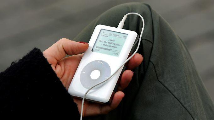 Die Kapazität des iPod betrug bis zu 160 Gigabyte.