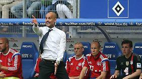 Beim letzten Auftritt beim HSV gab es keine Tore - aber viel zu wirbeln für Josep Guardiola.