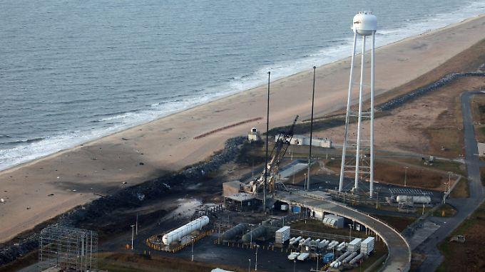 Die Weltraumbahnhof von Wallops-Island wurde schwer beschädigt.