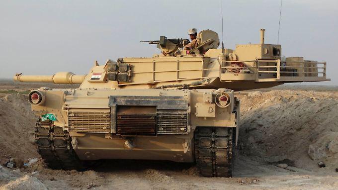 Irakische Soldaten beim Kampf gegen den IS in der Provinz Anbar.