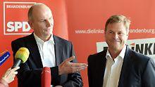 Linke büßt Ministerposten ein: Rot-Rot besiegelt Potsdamer Koalition
