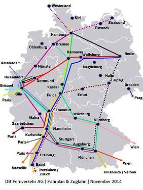 """Logistischer Alptraum: """"Trotz Streiks können weiter die aufkommensstärksten Verbindungen im Kernnetz angeboten werden."""""""