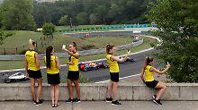 """Pirelli-Hostessen am Hungaroring bei Budapest: """"Das ist wahrscheinlich mein Fehler."""""""