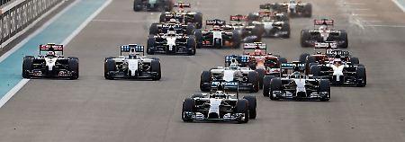 Showdown in Abu Dhabi: Rosberg verpatzt Start