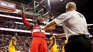 """""""Come on Ref!"""" NBA-Superstar John Wall regt sich über einen Pfif auf."""