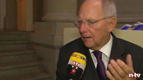 """Schäuble im n-tv Interview: """"Die schwarze Null ist eine Selbstverpflichtung"""""""