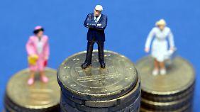 Ursache ist veraltetes Rollenbild: Frauen verdienen oft viel weniger als ihre männlichen Kollegen