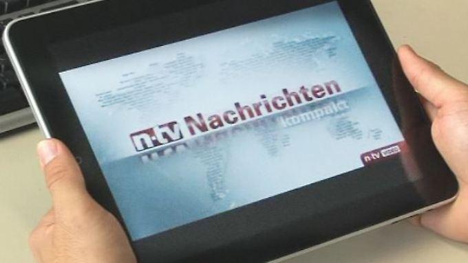 In Kürze auch auf dem iPad von Apple: Mit n-tv-Apps zum Nachrichtenprofi