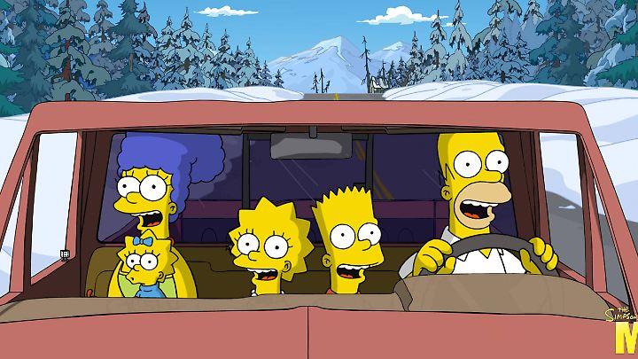 """Die Simpsons sind für viele Zuschauer die liebste Fernsehfamilie (Szene aus """"Die Simpsons - Der Film"""")."""
