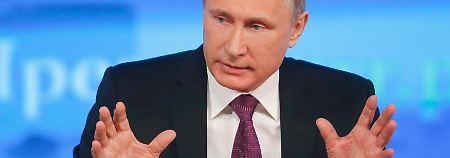 Erste Äußerungen seit Rubel-Absturz: Putin sieht die Lage nicht allzu dramatisch