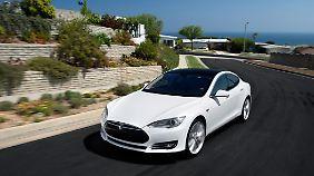 Noch führt Tesla die Riege der Hersteller von Elektroautos mit seinem Model S an.