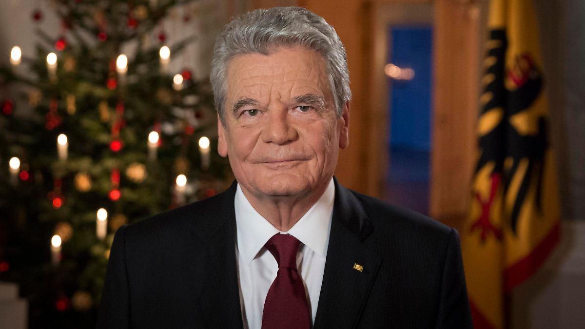 Weihnachtsansprache Bundespräsident