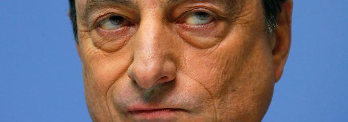 """""""Es gibt deshalb auch keinen Plan B"""": EZB-Chef Mario Draghi."""