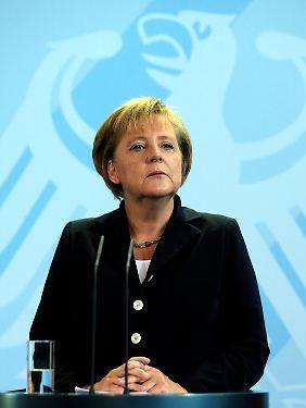 """Die """"Phase der Unsicherheit"""" sieht Angela Merkel überwunden."""