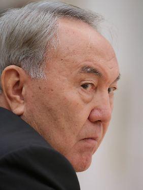 Sehr besorgt: Kasachstans Präsident Nursultan Nasarbajew.